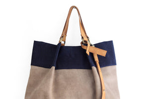 Emma Bag TOTE bag and HAND bag made of denim and italian leather