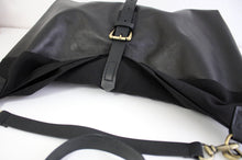 Load image into Gallery viewer, BOHO bag and CROSS BODY bag made of soft italian leather, canvas and italian leather. Mary bag