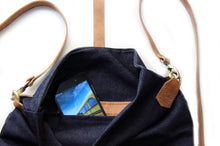 Load image into Gallery viewer, Roby BACKPACK, denim and leather backpack, denim lining, blue.
