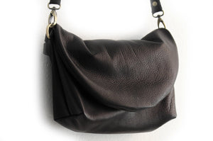 Leather CROSSBODY bag made of italian leather  color black or red. Sofia leather crossbody bag