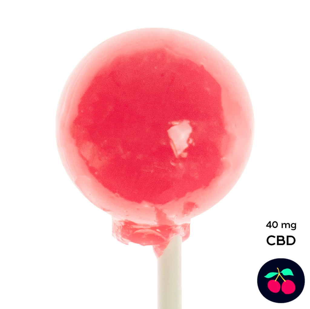 CBD Red Cherry Lollipops (2 Pieces) 40mg CBD