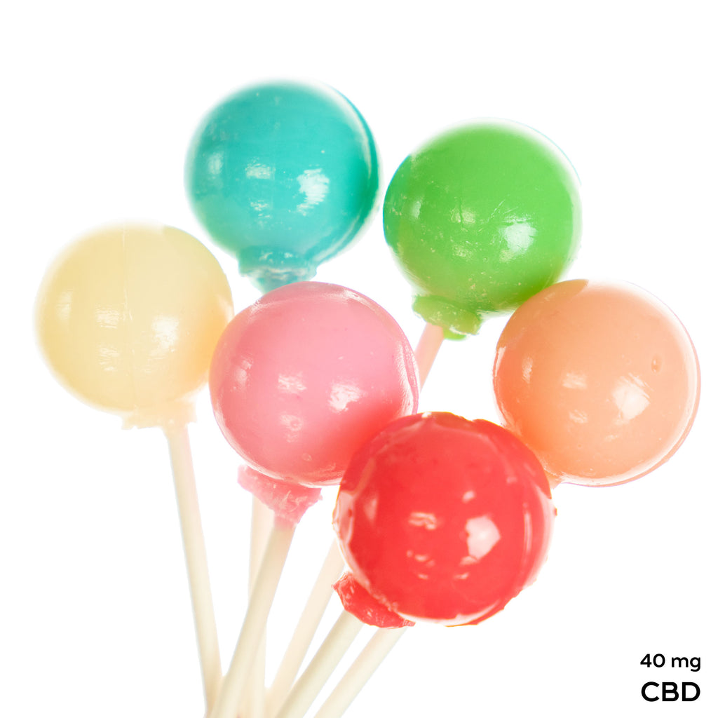 CBD 6 Flavorful Pops Mix Flavors (12 Pieces) 40 mg CBD