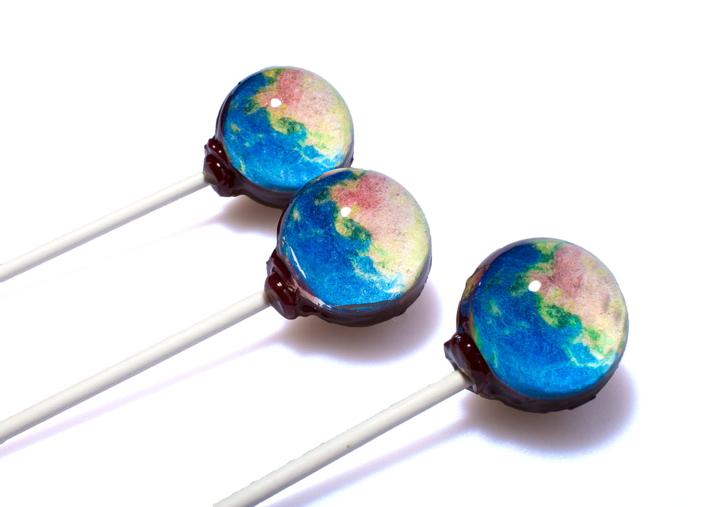 CBD Galaxy Universe Lollipops - Planet Earth 10mg CBD