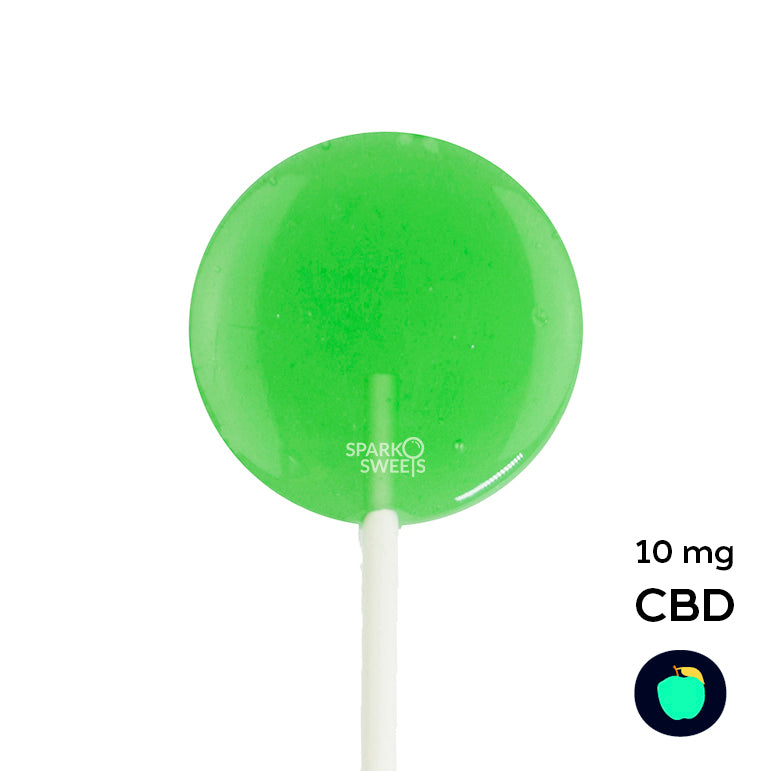 CBD Lite Green Apple Flavor Lollipops - 3 Pieces