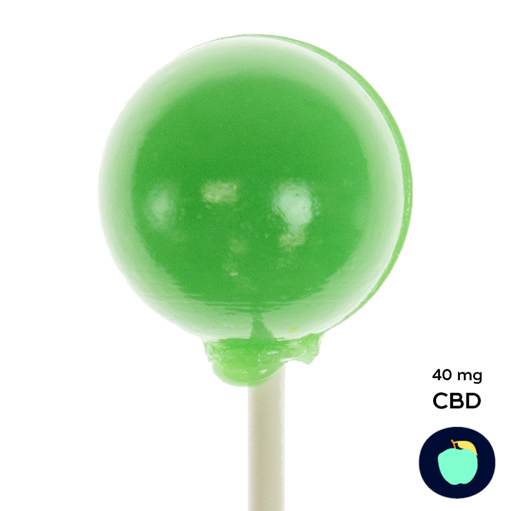 CBD Green Apple Lollipops (2 Pieces) 40mg CBD