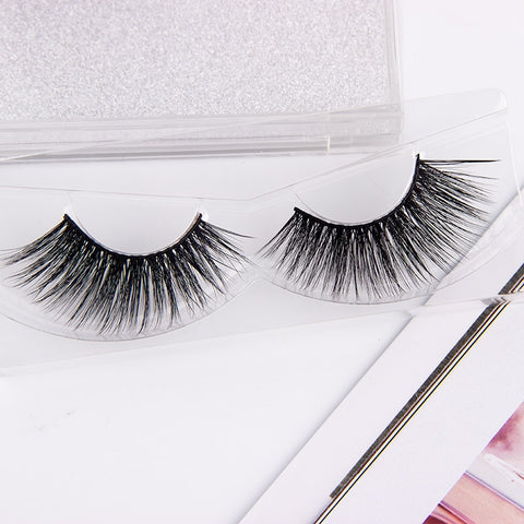 False Eyelashes W/ 3D Thick Glitter