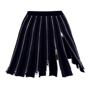 Zip up Detail Skirt