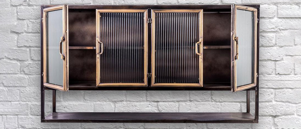 Industrial retro wall cabinets