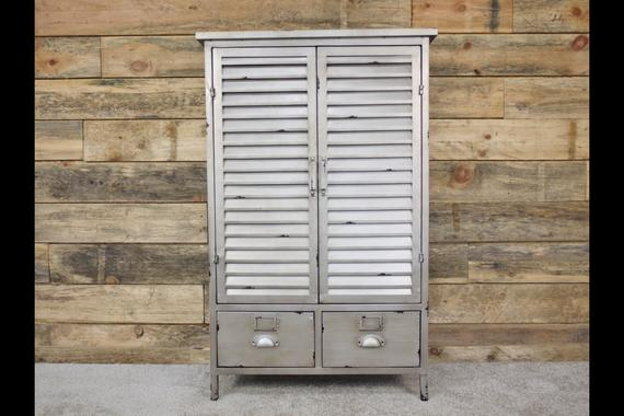 Brushed metal industrial cabinet