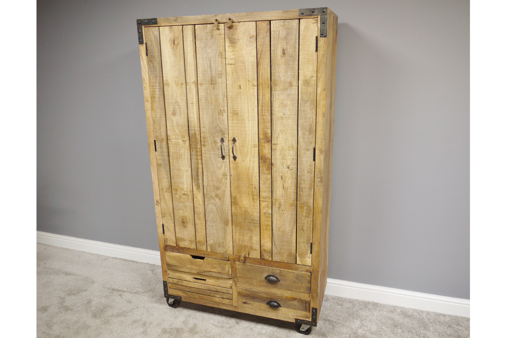 Big solid wood storage cabinet - kitchen larder - bar unit.