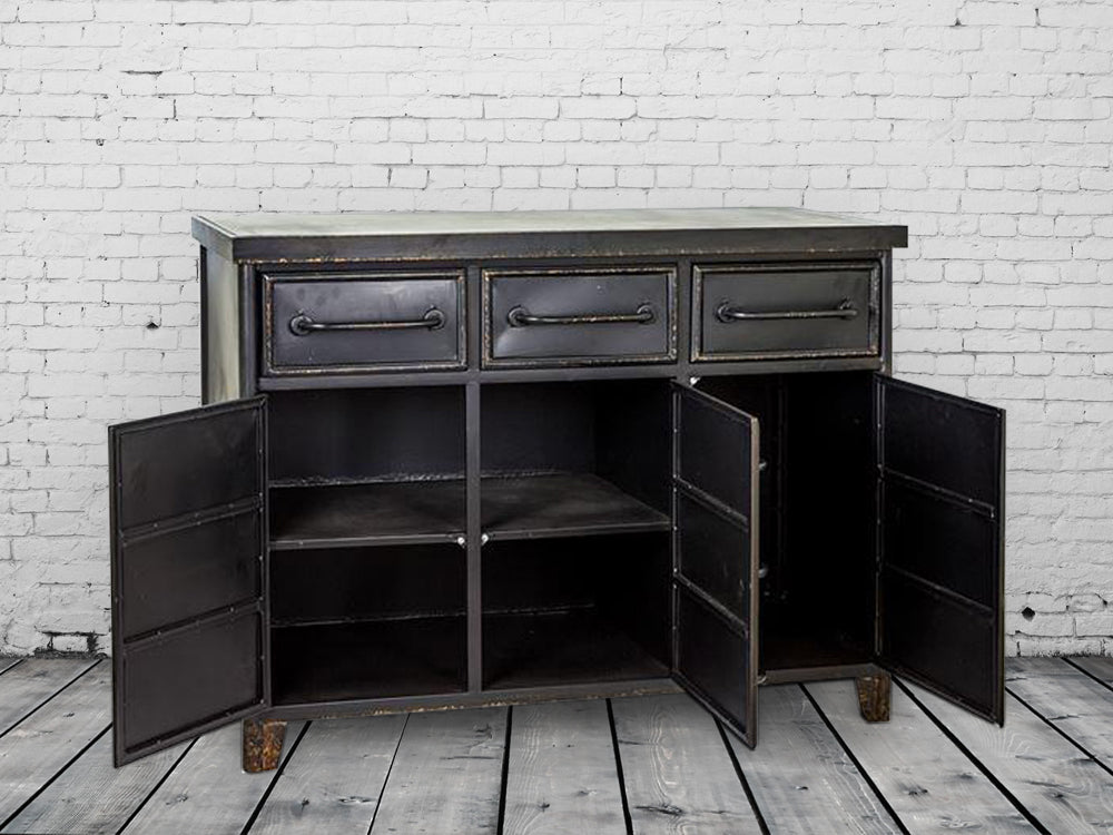 Large Industrial Metal Cabinet - Sideboard