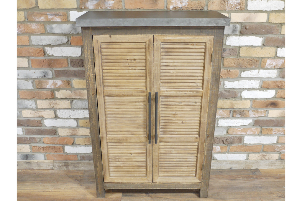 Wood & Metal Industrial storage cabinet