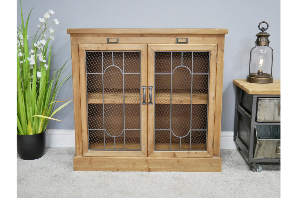 rustic wooden storage cabinet