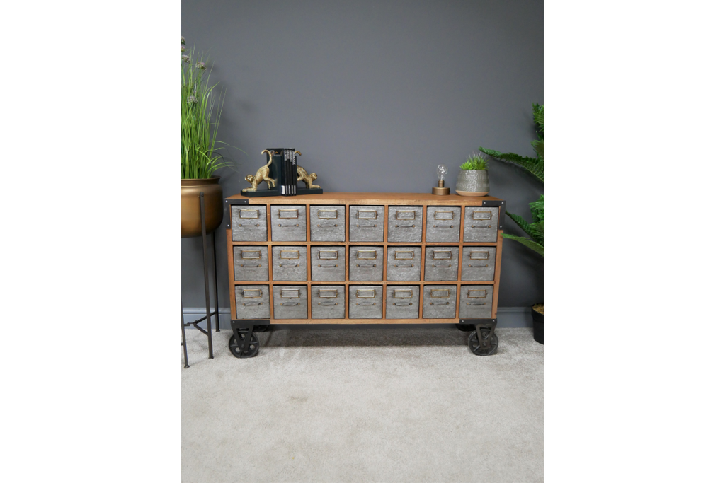 28 drawer industrial metal storage cabinet