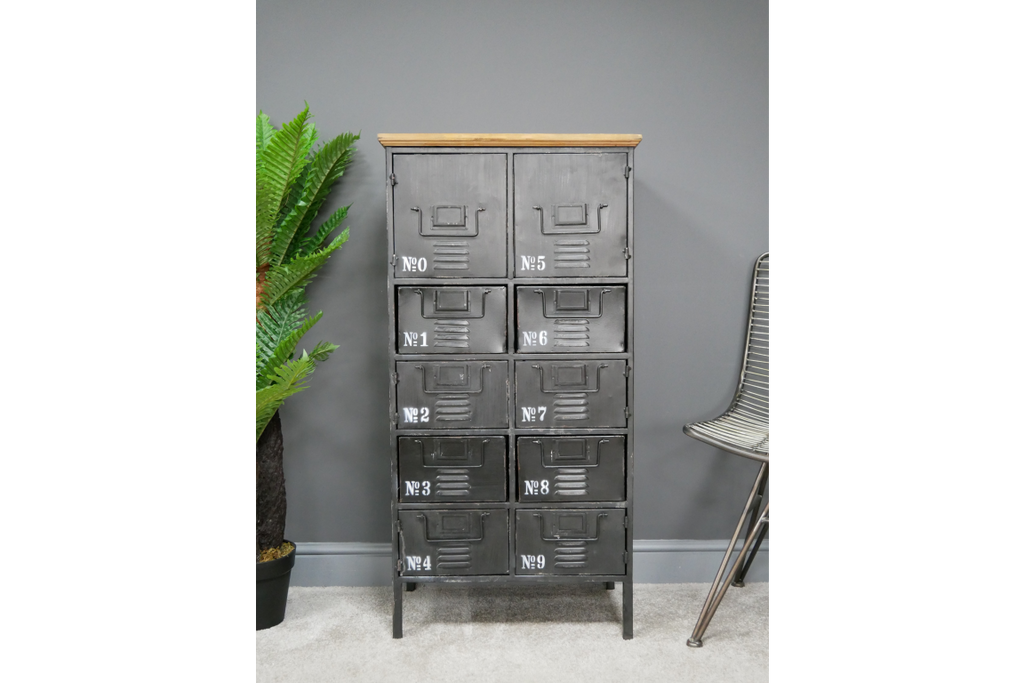 Black Industrial Utility Metal Storage Locker