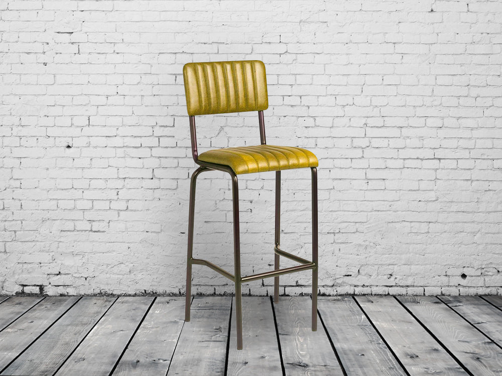 Industrial retro bar chairs. Vintage gold