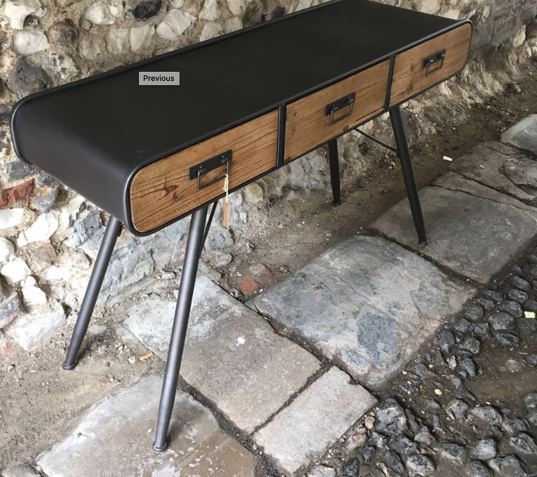 Industrial retro wood & metal desk