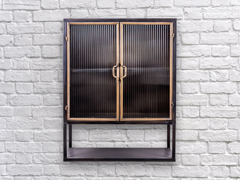 Industrial retro metal wall cabinet
