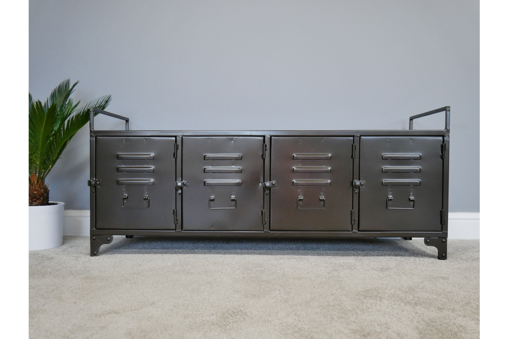 Industrial metal locker cabinet - media unit.
