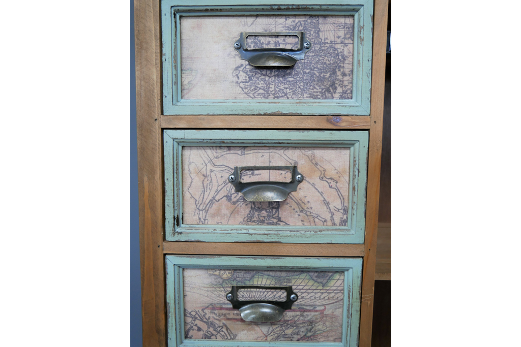 Tall Industrial vintage multi compartment storage cabinet.