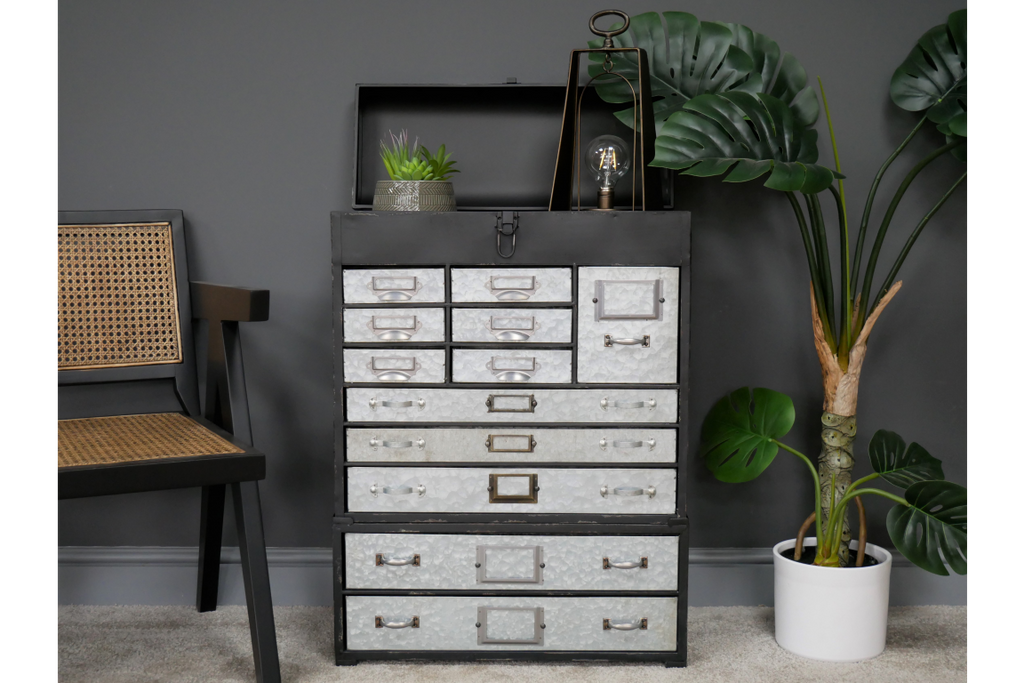 Industrial retro drawer storage cabinet