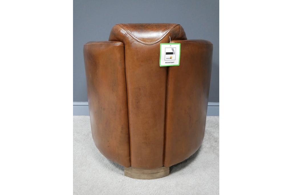 Brazilian Cognac Leather Cigar Club Armchair