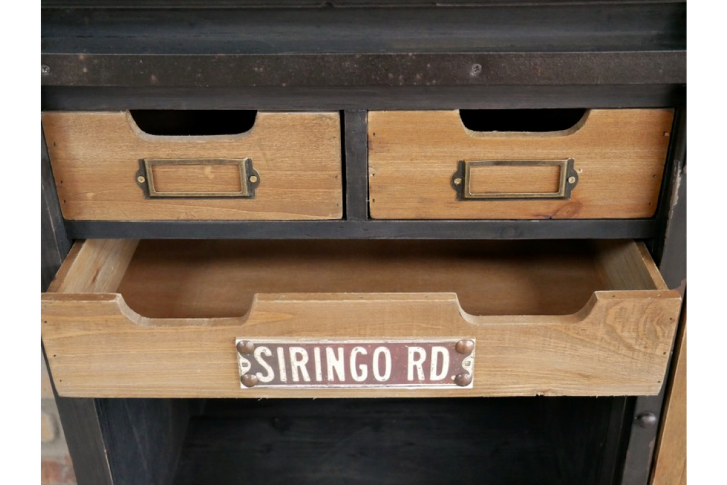 Industrial retro storage cabinet