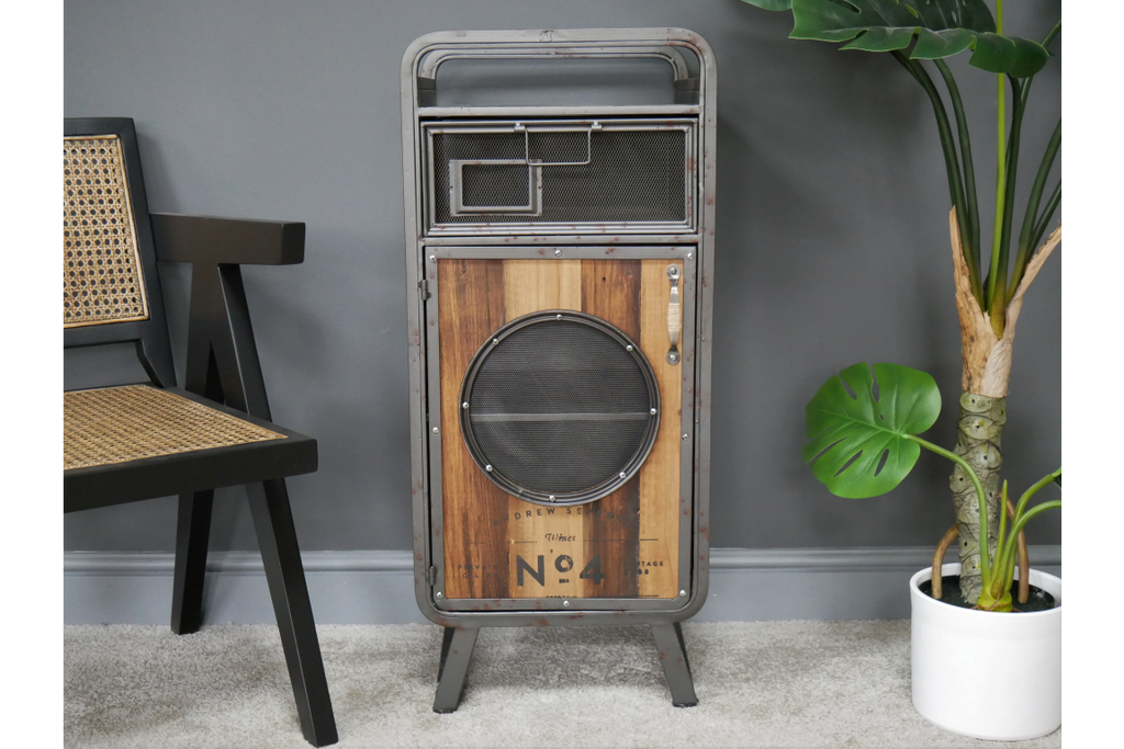 Industrial retro bedside cabinets