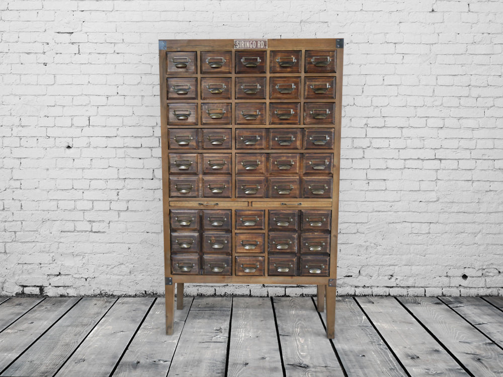 Large Fir Wood 45 Drawer Storage  Apothecary Cabinet.