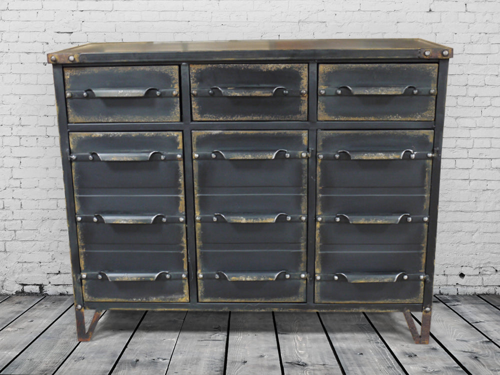 Black Industrial metal cabinet - Sideboard.