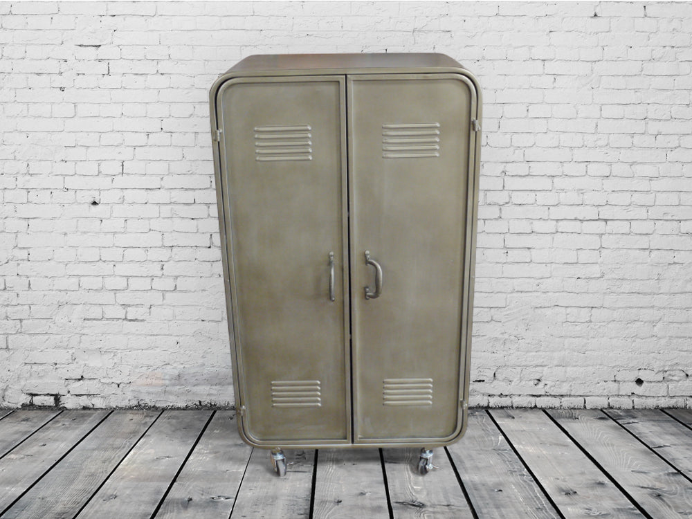 Metal industrial cupboard.