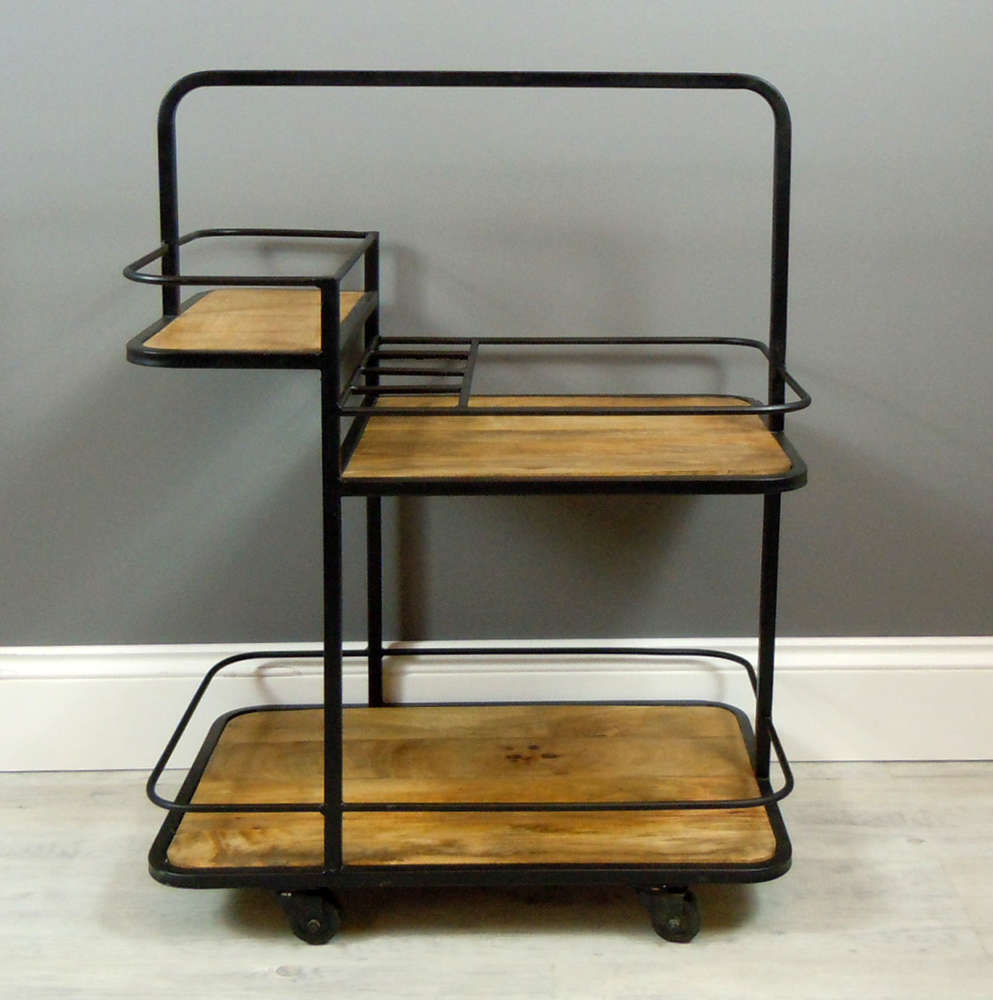 Industrial  retro drinks trolley / bar unit.