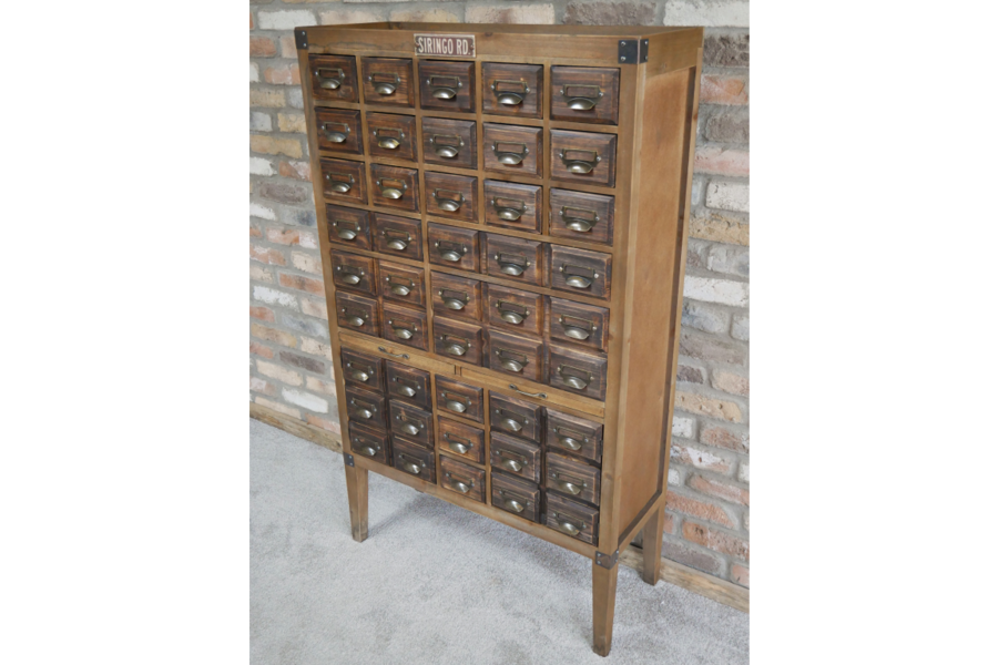 Extra Large Fir Wood Multi Drawer Storage Cabinet Apothecary Cabinet. 45 Drawers.