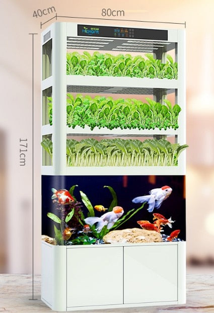 Smarter planter indoor hydroponics & Aquaponics with fish tank - GreenLit Grow