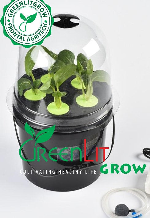 5Litre DWC Dutch Bucket System Complete Kit with Humidome by GreenLit Grow - GreenLit Grow