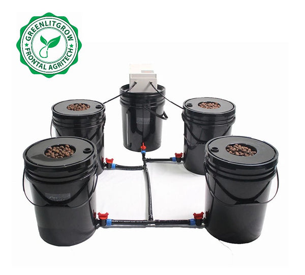 GreenLit Aeroponics 5 Bucket System  for Home Hydroponics - GreenLit Grow