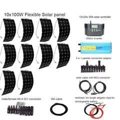 1000W Complete Flexible Solar Energy Package for Commercial & Home