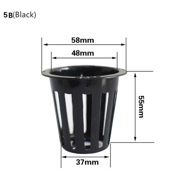 50pcs Mesh Pot Net Cup Basket Hydroponic System Plant Grow Organic Green Vegetable Clone Cloning Seed Germinate Nursery Pots - GreenLit Grow