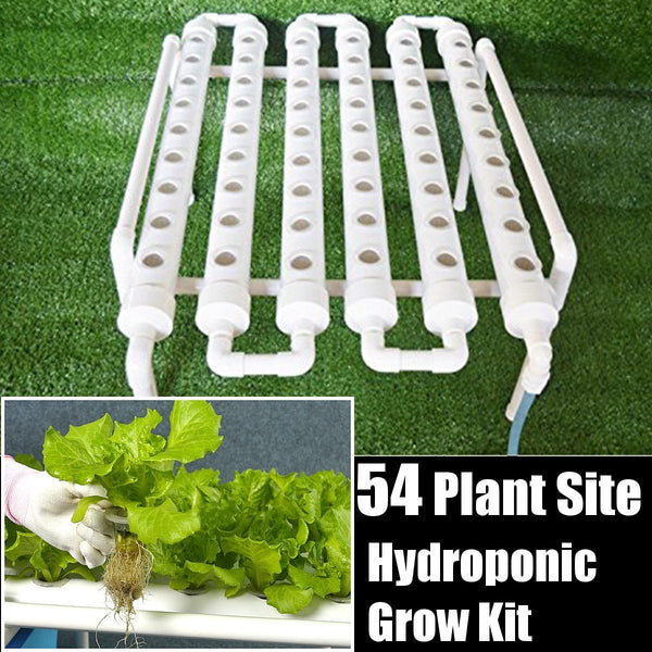 54 Holes Hydroponic Piping Site Grow Kit for Deep Water Culture w/pump - GreenLit Grow