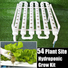 54 Holes Hydroponic Piping Site Grow Kit for Deep Water Culture w/pump