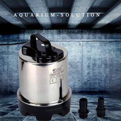 8500L/h Stainless Steel Vertical Submersible Water Pump for Hydroponics, Aquarium, Swimming Pool