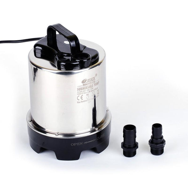 8500L/h Stainless Steel Vertical Submersible Water Pump for Hydroponics, Aquarium, Swimming Pool - GreenLit Grow