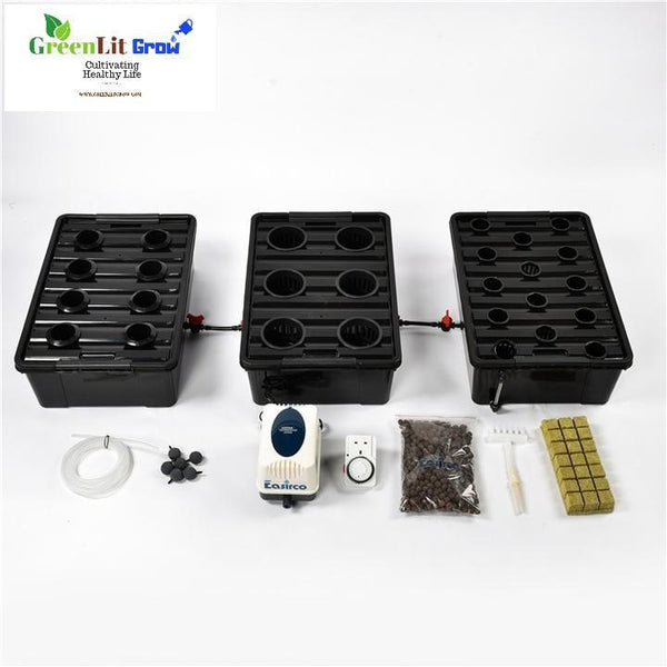 GreenLit Grow Complete 3 in 1  Big DWC bucket Hydroponics system Hydroponics gardening equipment gardening grow operation greenhouse farming