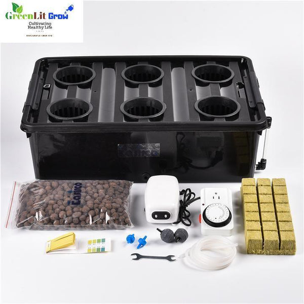 Complete DWC  Deep Water Culture Hydroponics system with big reservior - GreenLit Grow