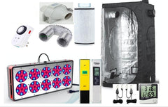 Complete Grow Tent Hydroponic 120x120X200cm Apollo 10 Full Spec 450W Grow Light Garden Kit