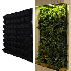 64 Pocket Hanging Vertical Garden Planter Indoor Outdoor Garden Bag