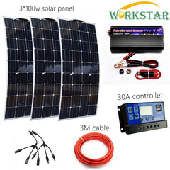 Complete Off Grid 300W Solar Energy System for Beginner Starter Kit