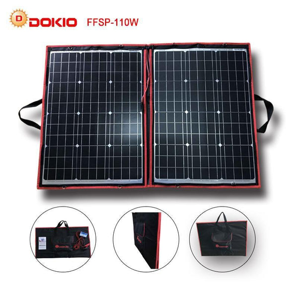 Portable Solar Energy 110W Flexible Black Panels with Controller - GreenLit Grow