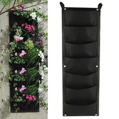 Vertical Garden Planter Wall-mounted Planting Flower Grow Bag 7 Pocket 100cm*30cm