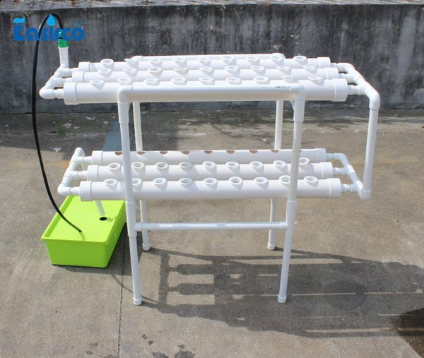 Hydroponics system NFT with 54pcs of net cup. Nutrient Film Technique (NFT) - GreenLit Grow